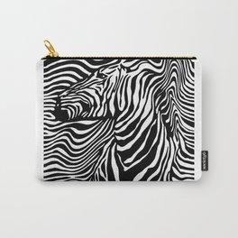 Zebra stripes on ligh Carry-All Pouch