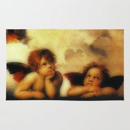 "Raffaello Sanzio da Urbino ""Sistine Madonna"", 1513-1514 - angels (1) Rug"