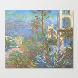 "Claude Monet ""Villas at Bordighera"" Canvas Print"