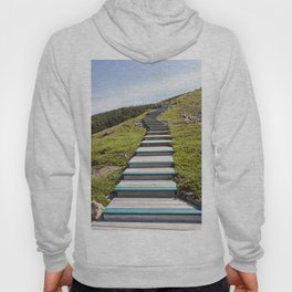 stairs up the hillside Hoody