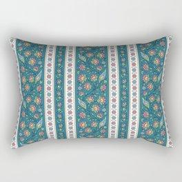 Floral on Teal Rectangular Pillow