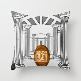 Necropolis Coin Copper 3 Throw Pillow