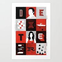 dexter Art Prints featuring Dexter by Bill Pyle
