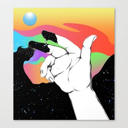 To hand you the hand of the hand once in my hand Canvas Print