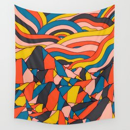 The rocks and hills of colour Wall Tapestry