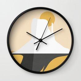 Abstract Mesa - Golden Desert Wall Clock