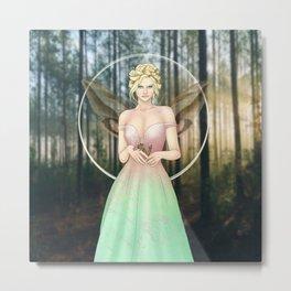 Spring Woodland Fairy Metal Print