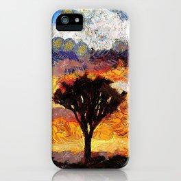 Van Gogh crazy sunset iPhone Case