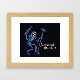 Antisocial Overlord Framed Art Print