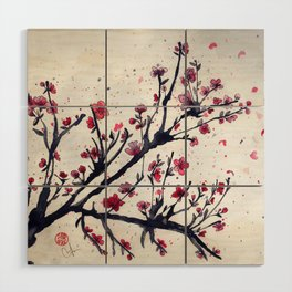 Sakura Sakura watercolour Wood Wall Art