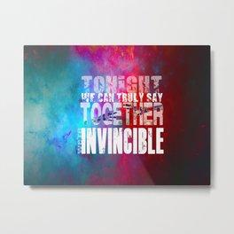 muse invincible Metal Print