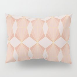 geometry art decó in pink and mauve Pillow Sham