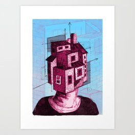 Househead 2 Art Print