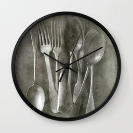 Flea market cutlery Wall Clock