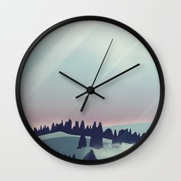 Castle in the Mountains Wall Clock