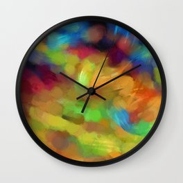 Colored paint spots. Wall Clock
