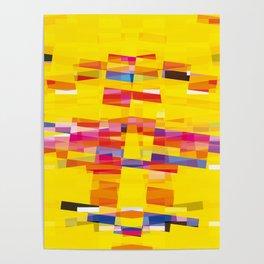 yellow pixel storm Poster