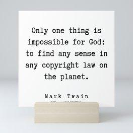95    Mark Twain Quotes   190730 Mini Art Print