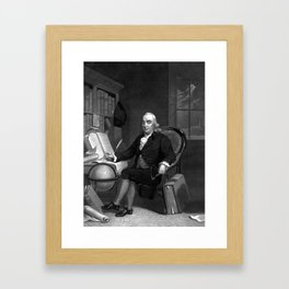 Benjamin Franklin -- The Scientist Framed Art Print