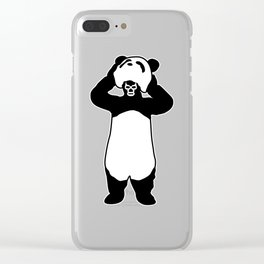 Lucha Panda Clear iPhone Case