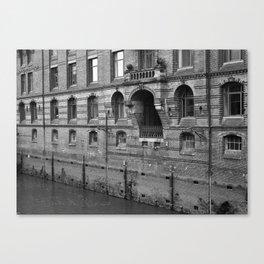 Hamburg Warehouse Brick Wall Canvas Print