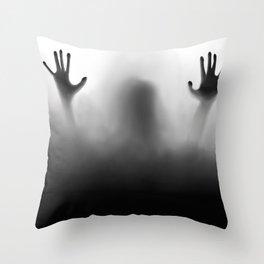 Claustrophobia Illustration Throw Pillow