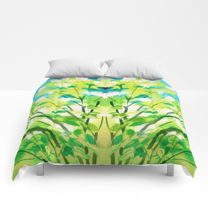 Tree in bloom ❤ Comforters