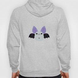 Purple Kawaii Halloween Bat Pattern Hoody