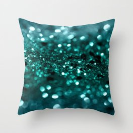Sparkling OCEAN Glitter #1 #shiny #decor #art #society6 Throw Pillow