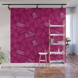 Sneakers // Pink Wall Mural