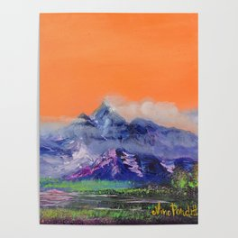 Mountains landscape. Diptych Poster