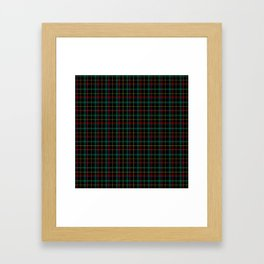 Red and green plaid Framed Art Print