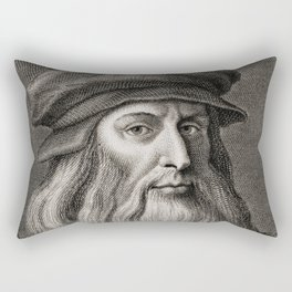 Leonardo da Vinci Rectangular Pillow