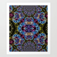 BBQSHOES: Fractal Design 1020C Digital Psychedelic Art Art Print