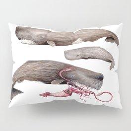Sperm whale family Pillow Sham