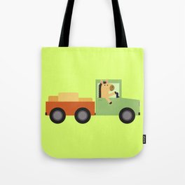 Horse on Truck Tote Bag