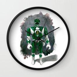Green Flip-Head Wall Clock