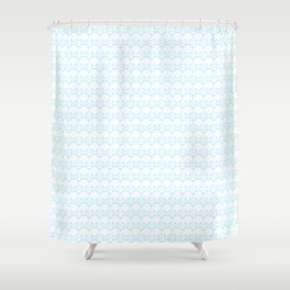 kitty pattern print in blue Shower Curtain