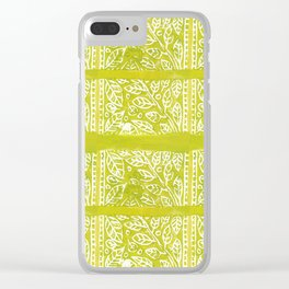 Leaves in Lime Clear iPhone Case