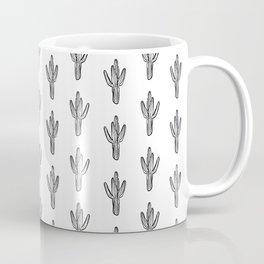 Cactus minimal modern black and white art decor painting trendy hipster southwest desert gifts  Coffee Mug