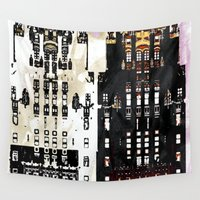 building Wall Tapestries featuring Radiator Building by Steve W Schwartz Art