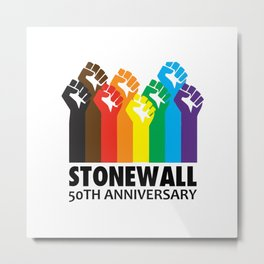 STONEWALL 50TH ANNIVERSARY Metal Print