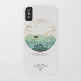 Bubble-map #01 Kalt iPhone Case