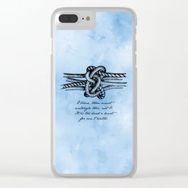 William Shakespeare - Twelfth Night - Knot Clear iPhone Case