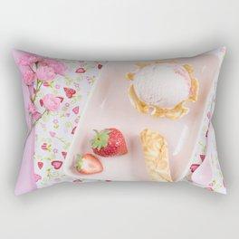 Strawberry ice cream Rectangular Pillow