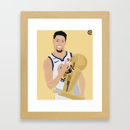 Klay 3 time champion Framed Art Print