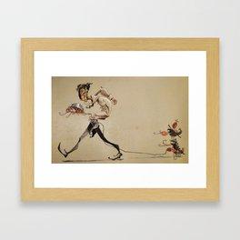 Rescue Lobster Ninjas Framed Art Print