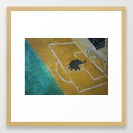 Safari kickabout Framed Art Print