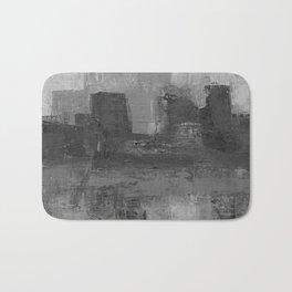 Paint Texture (Black and White) Bath Mat