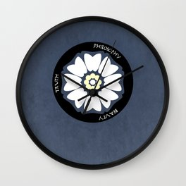 White Lotus Minimalist Wall Clock